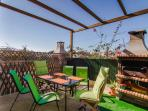 Great outside space  for BBQ and drinks .
