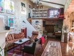 The livingroom  with the mezzanie
