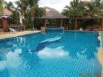 Club house with swimmingpool is 50 metre of the house