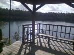 DECK AT BLUE HOLE; RELAXATION.