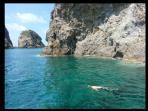 Sea in Ponza Island