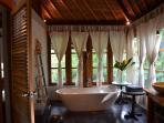 master bathroom, the charming bath tub