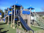 HUGE CHILDRENS PLAY AREAS -  WITH CLIMBING FRAMES,  SLIDES,   ZIP WIRE,  BASKETBALL, TRAMPOLINE