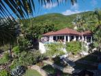 View of main villa from guest house
