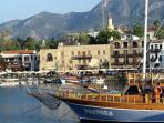 Many bars, cafes & boats around Kyrenia's beautiful harbour, just a few minutes from the cottage