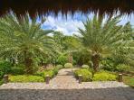 Garden surrounding villa