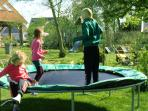The trampoline is favorite to the kids. Now we have one of 4 meters.