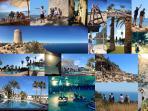 Collage met algemene indrukken van Moraira