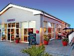 LEISURE BUILDING - HERE YOU WILL FIND THE CAFE,   SWIMMING POOL,   INDOOR SOFT PLAY