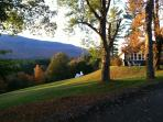 Stunning autumn views of innkeeper cottage lawn