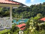 Each Villa Overlooks Marigot Bay...