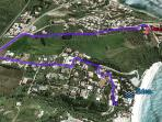 Maps Apartment-EDEN's Beach