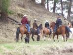 Trail rides are available from the property or arrange for ones in the mountains
