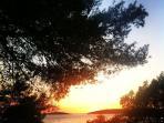 Sunsets on island