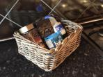 Complimentary welcome hamper.