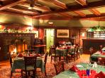 We can cater drop off dinners at your house or rent our handsome Billiard Room in the Wilburton Inn