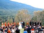 Get married in the alter of the green mountains at the Wilburton Inn.