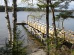 Awesome private dock is great for fishing and kayaking- Mooring too