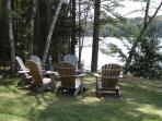Most guests most favorite spot - Adirondack chairs by the water!