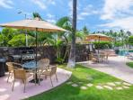 Grill up a feast at the outdoor BBQ grill located next to the infinity pool.