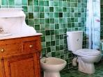This authentic bathroom is connecteddirectly to the bedroom in previous picture.