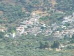 view of the village from the Elounda mountains opposite
