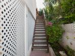 Steps up to your private apartment