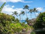 Peak a boo view of the ocean from Paia Surf lanai and kitchen