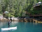 paddleboarding in Alaska!
