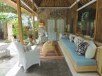 Cabana poolside