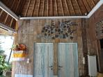 Painted finish Cabana teak wall