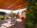 Outdoor sitting and dining area