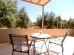 Terrace with view of the olivegroove!!