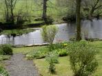 Enjoy the beautiful river garden.