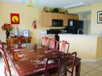 Convenient open plan kitchen/diner