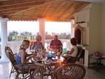 A spacious veranda like this is vital - you keep cool, naturally
