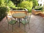 Lovely patio area for your petit dejeuner