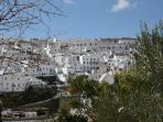 Vistas del pueblo blanco de Vejer desde la Galbana