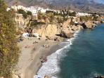 Nerja sea shore.