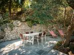 Extending table for up to 10 people on the Olive & Almond Terrace