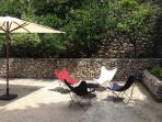 Butterfly chairs at The Spot