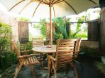 Private dining seats in private garden