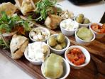 Our famous sharing platter in the restaurant