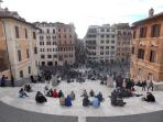 just 100m from the apartment -Piazza di Spagna