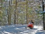 Over 500 miles of pristine snowmobile trails