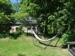 Meadow with your own private hammock - sunny all day.