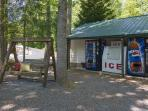 Wood and ice available on site