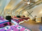 Loft With Four Twin Beds