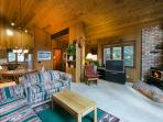 Open Concept Living Area With Vaulted Ceilings