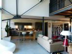 Loft/open kitchen